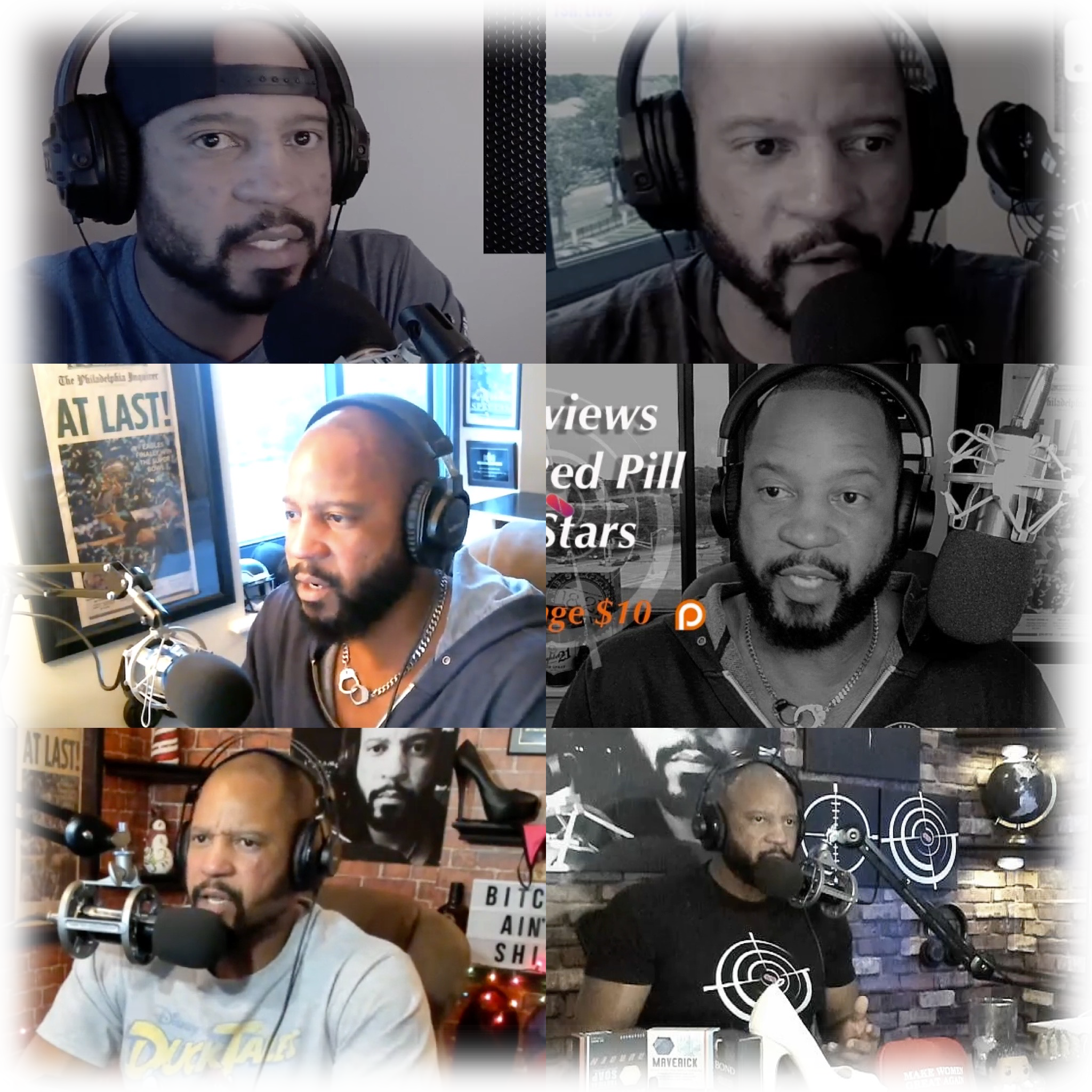 THE RED PILL PODCAST - I started my podcast back in May of '17 and thanks to like-minded Men, TSR: Live has made great strides in both content and production. The show has gotten          over 4 million views and that's on just one of the many platforms I stream to.The truth isn't pretty, gentlemen. This is why I've been banned on every social media platform out there. Even now my content is de-ranked and de-monetized. But that hasn't stopped me and it NEVER will. Tune in every Monday at NoonEST.