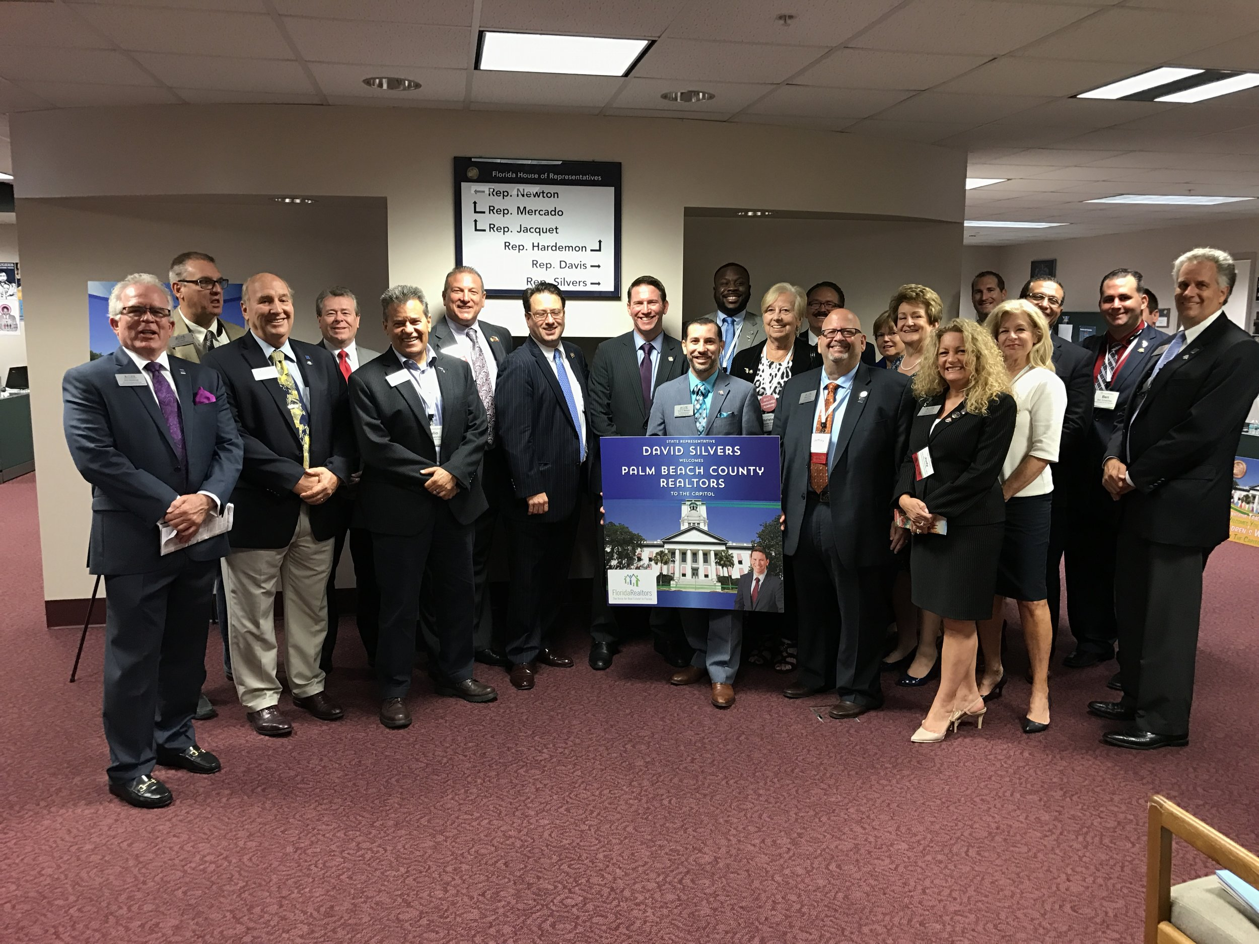 Realtors Association of the Palm Beaches Members with Rep. David Silvers (D-Greenacres)