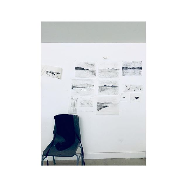 @marthaorbach 's workspace in the #glasgow #houseforanartlover #residency making exciting things. . . . . #glasgowart #drawing #artiststudio #artistsoninstagram #instadaily #monochrome #composition #artist #studio