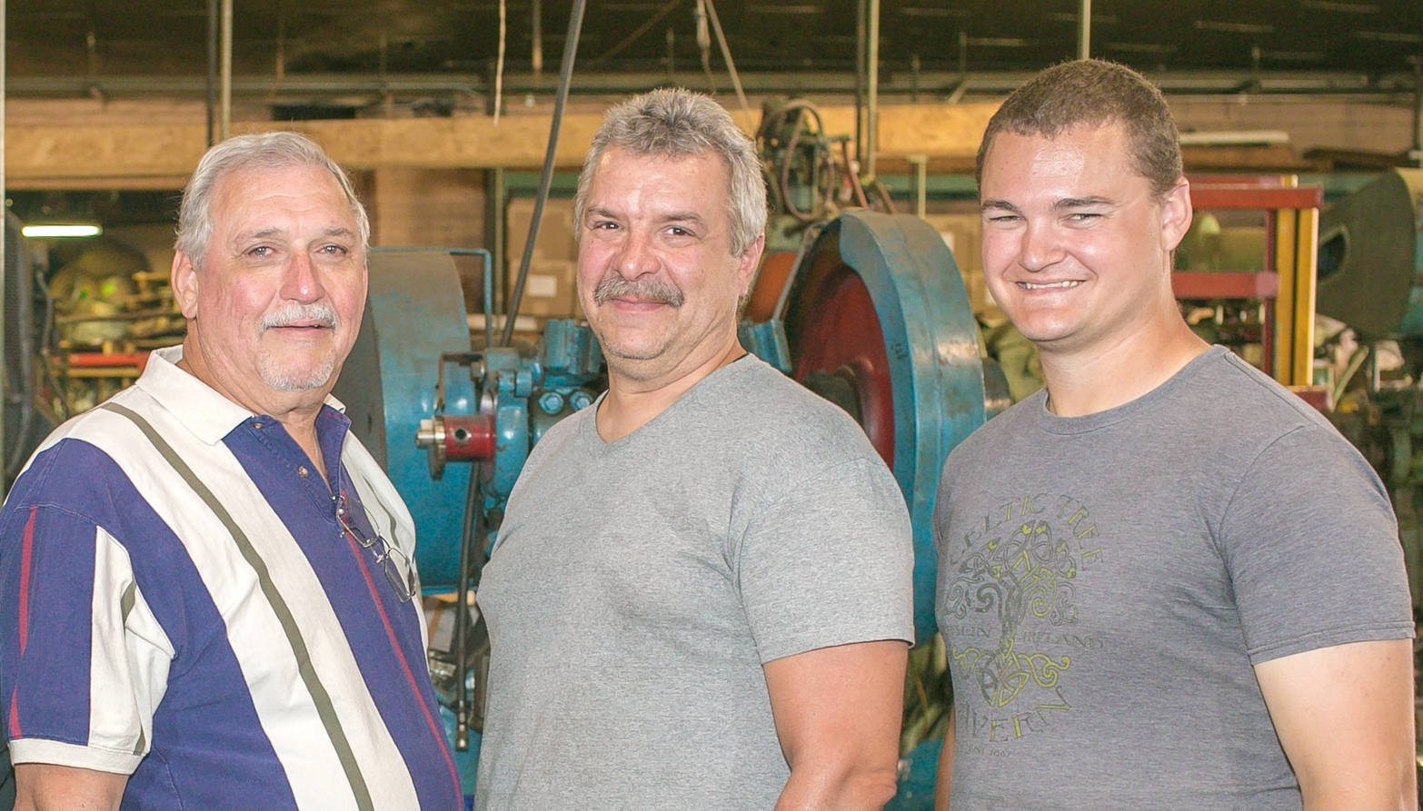 From left to right: Rich, Jack, and Corey of Lew-El Tool & MFG. CO.