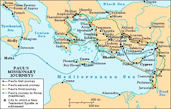 Apostle Paul's journeys