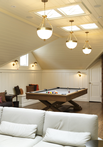 The Attic—After; ready for a game of billiards