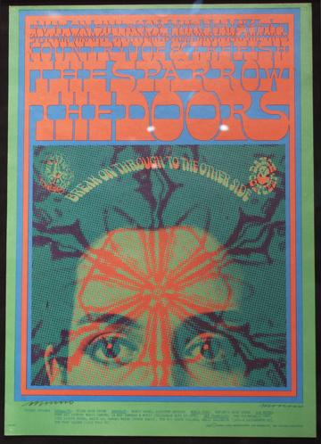 """Break on Through to the Other Side""—need I say more? Artist: Victor Moscoso, 1967 Avalon Ballroom, San Franscisco Bands: The Doors, Sparrow, Country Joe & the Fish"