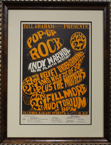 Artist: Wes Wilson, 1966 Fillmore Auditorium, San Francisco Bands: Velvet Underground with Nico, Frank Zappa, Exploding Plastic Inevitable