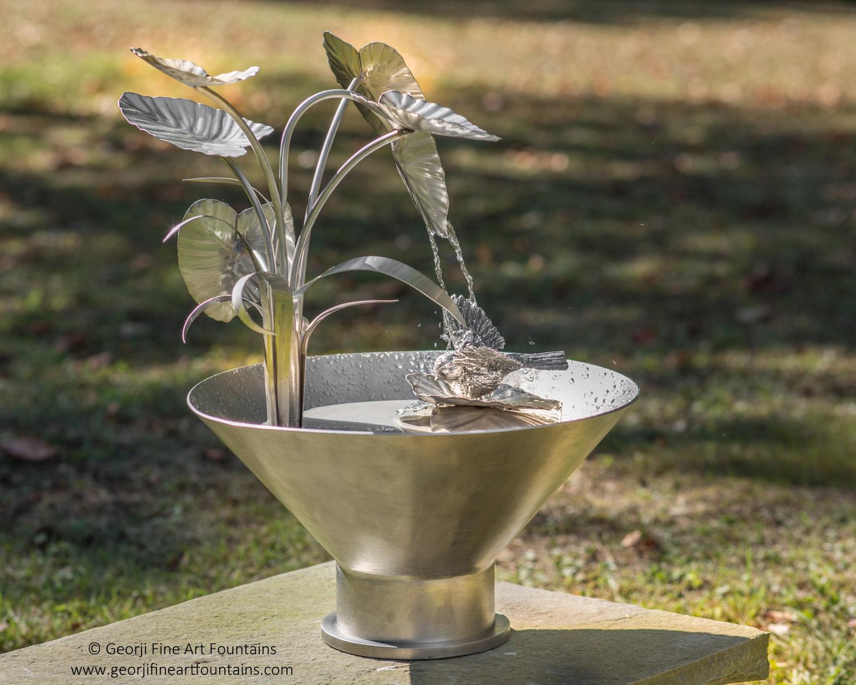 Chickadee Bird Fountain