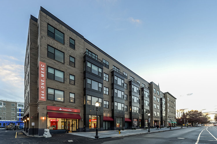 GRLA provided building envelope consulting services to the Construction Manager for The MERC at Moody & Main in Waltham, MA.