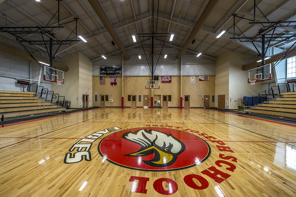 Inside St. Joseph Gymnasium