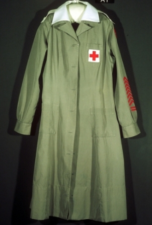 Reproduction of Red Cross nurse's uniform.