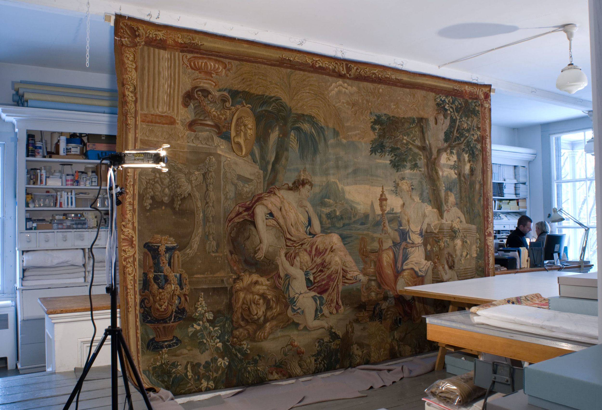 07-187 DT OA overall hanging at TCW O'Donohue, Tapestry of 4 Cardinal Virtues.jpg