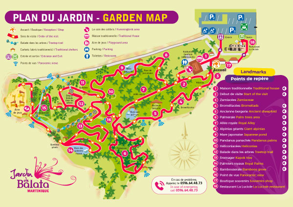 Cliquez sur l'image pour télécharger le plan de visite du Jardin de Balata