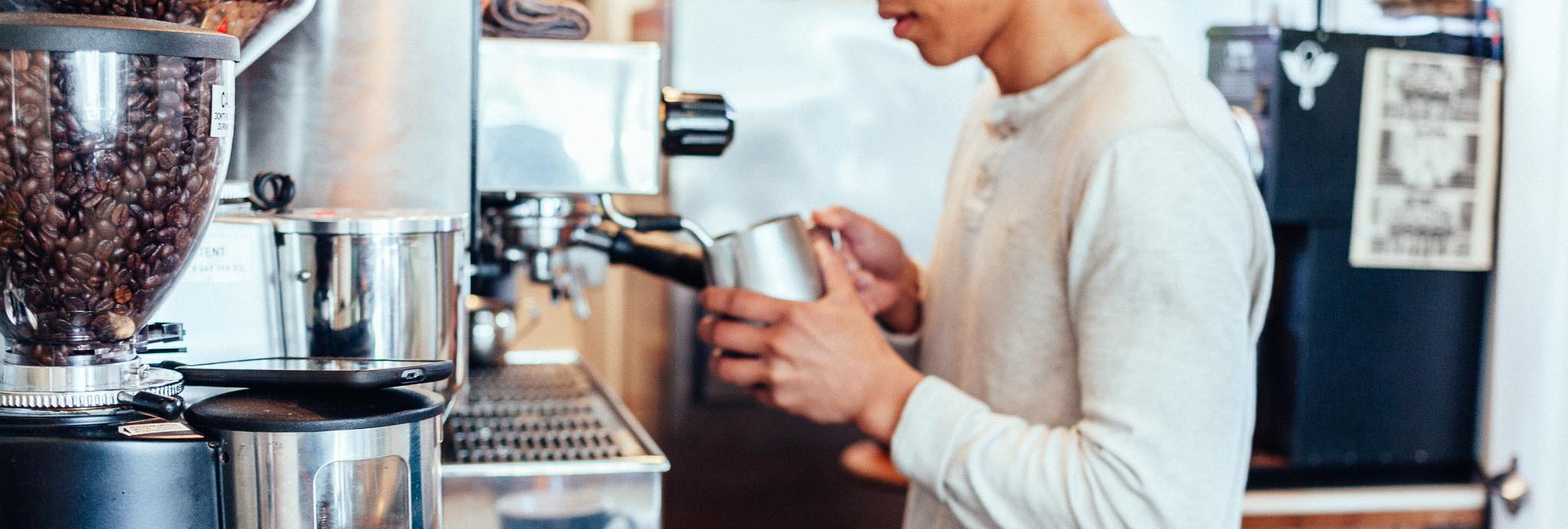 LOOKING FOR SOMETHING A LITTLE MORE PROFESSIONAL? - Book a barista to work in your coffee shop, On-Demand.