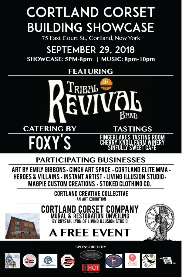 Promotional Poster designed for Cortland Corset Building Showcase 2018