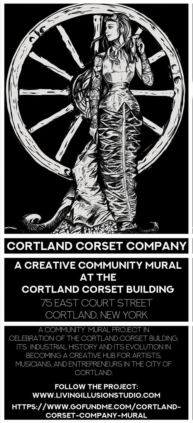 Cortland Corset Company Mural Promo