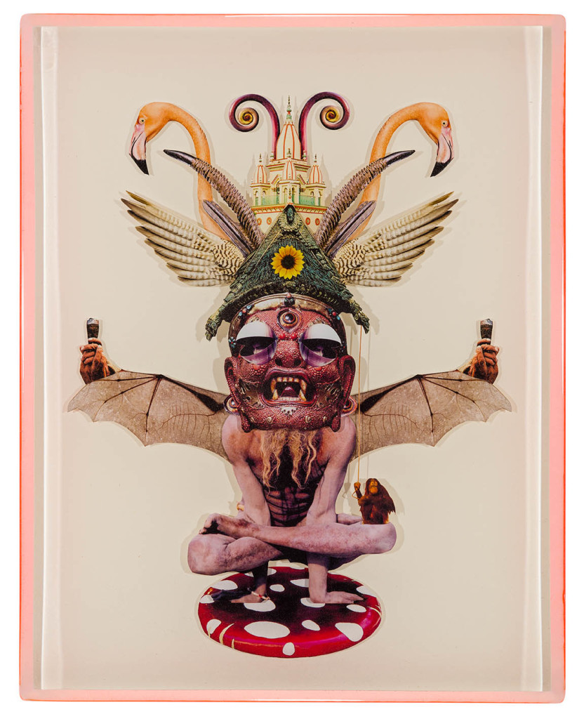 Flying Lotus, Collage layered in resin on mdf, 2014, 14%22 x 18%22.jpg
