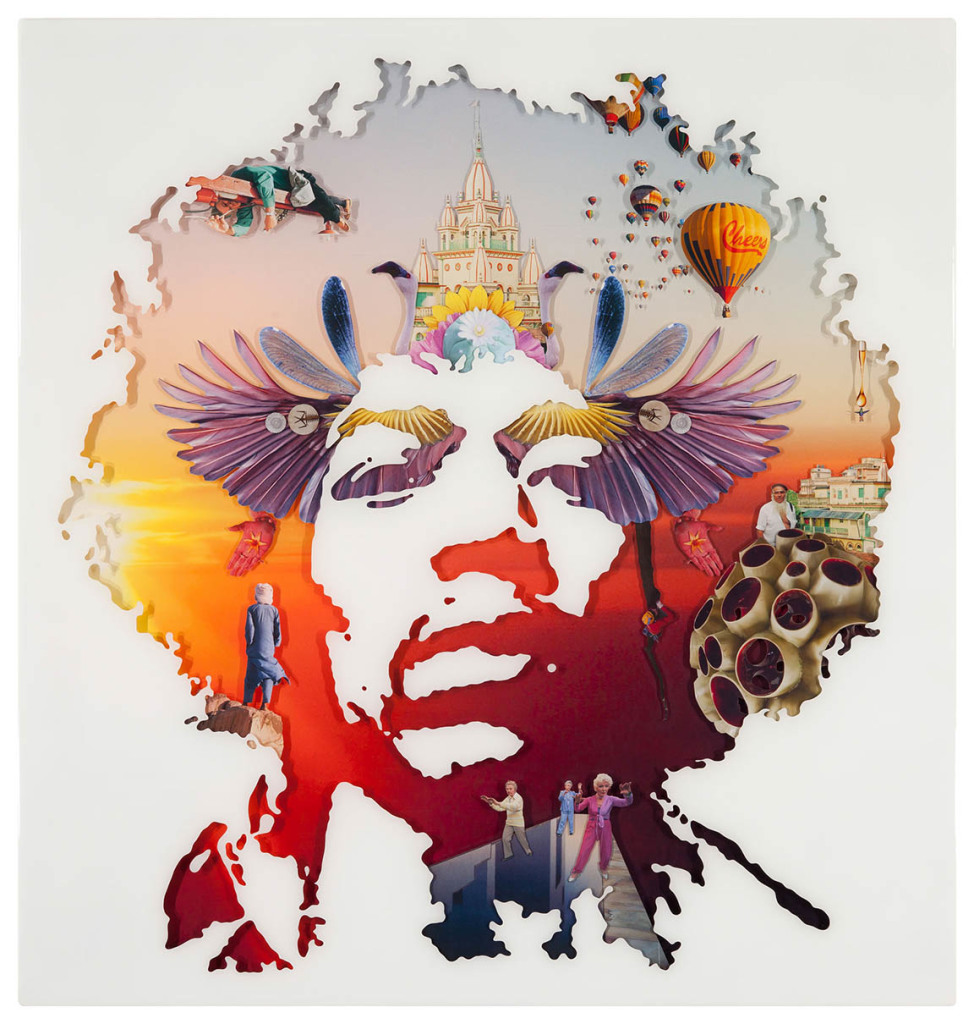Jimi Hendrix 1, Collage layered in resin on plywood, 2010, 38%22 x 36%22.jpg