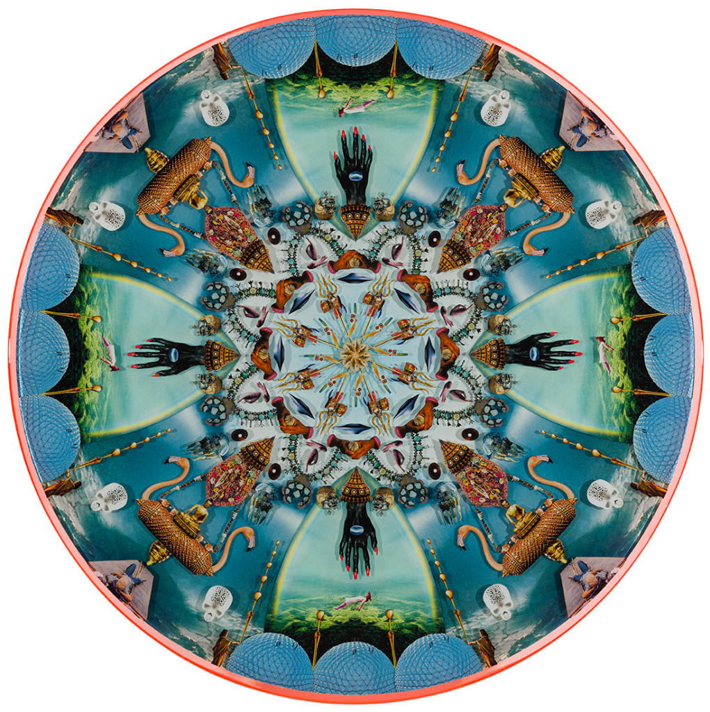 Kaleidoscope Vision 1, Collage layered in resin on mdf, 2014, 36.5%22 x 36.5%22.jpg