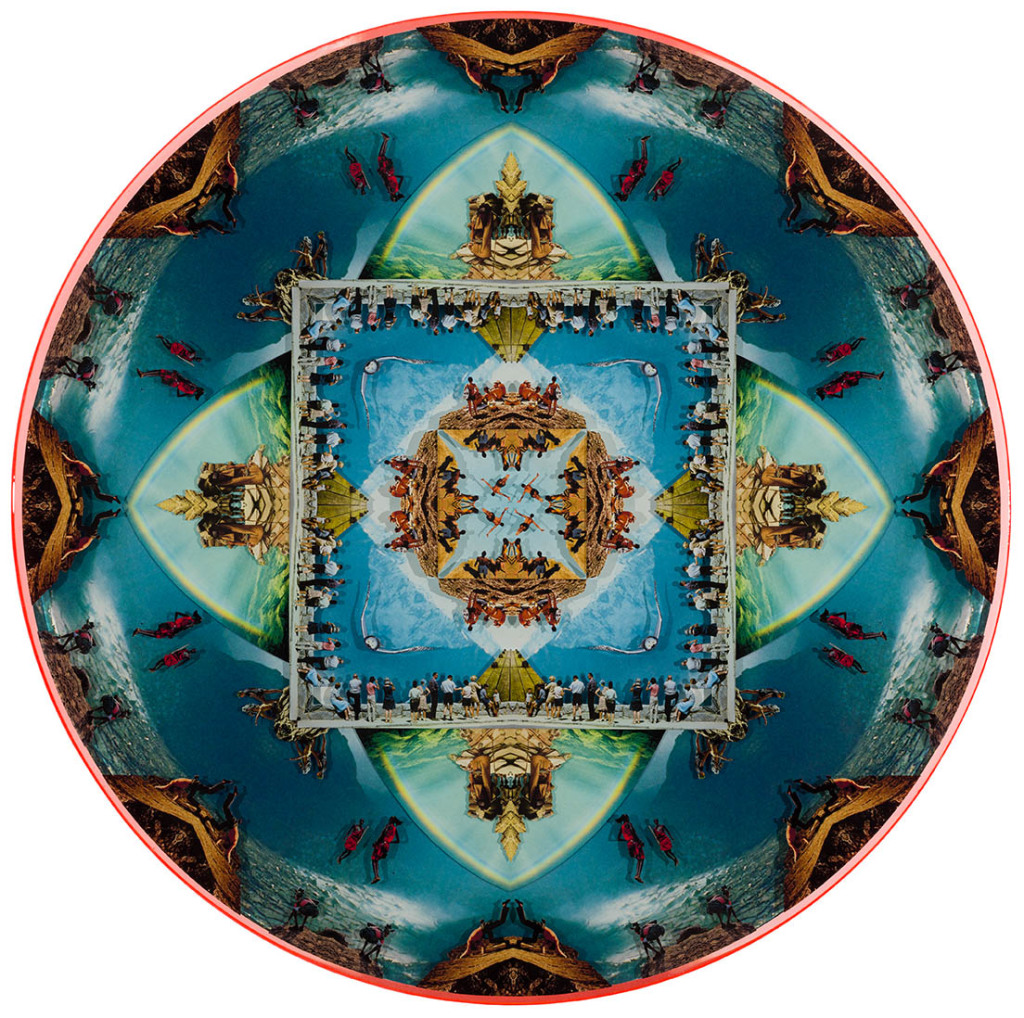 Kaleidoscope Vision 2, Collage layered in resin on mdf, 2014, 36.5%22 x 36.5%22.jpg