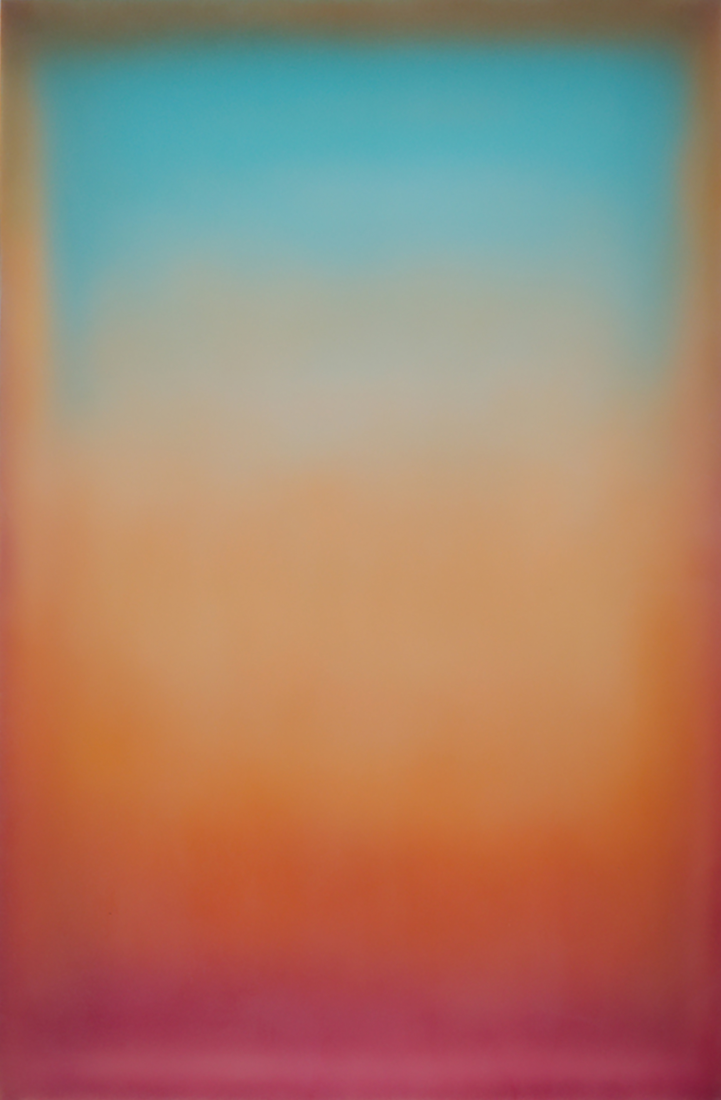 "Peter Gronquist, ""Fuzzy Logic."" 2016. Acrylic, Oil, Spray Paint. 48 x 72 in."