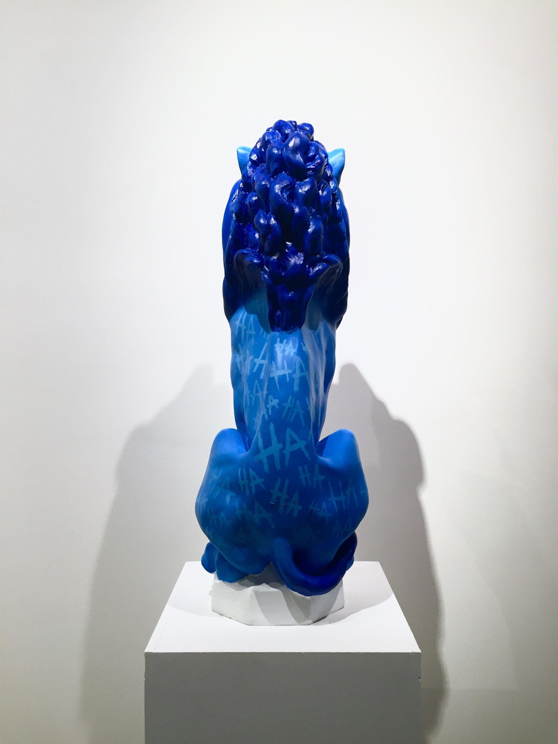 "Joseph Grazi, ""False Idols"" 2016. Acrylic on stone. 10"" x 12"" x 31""."