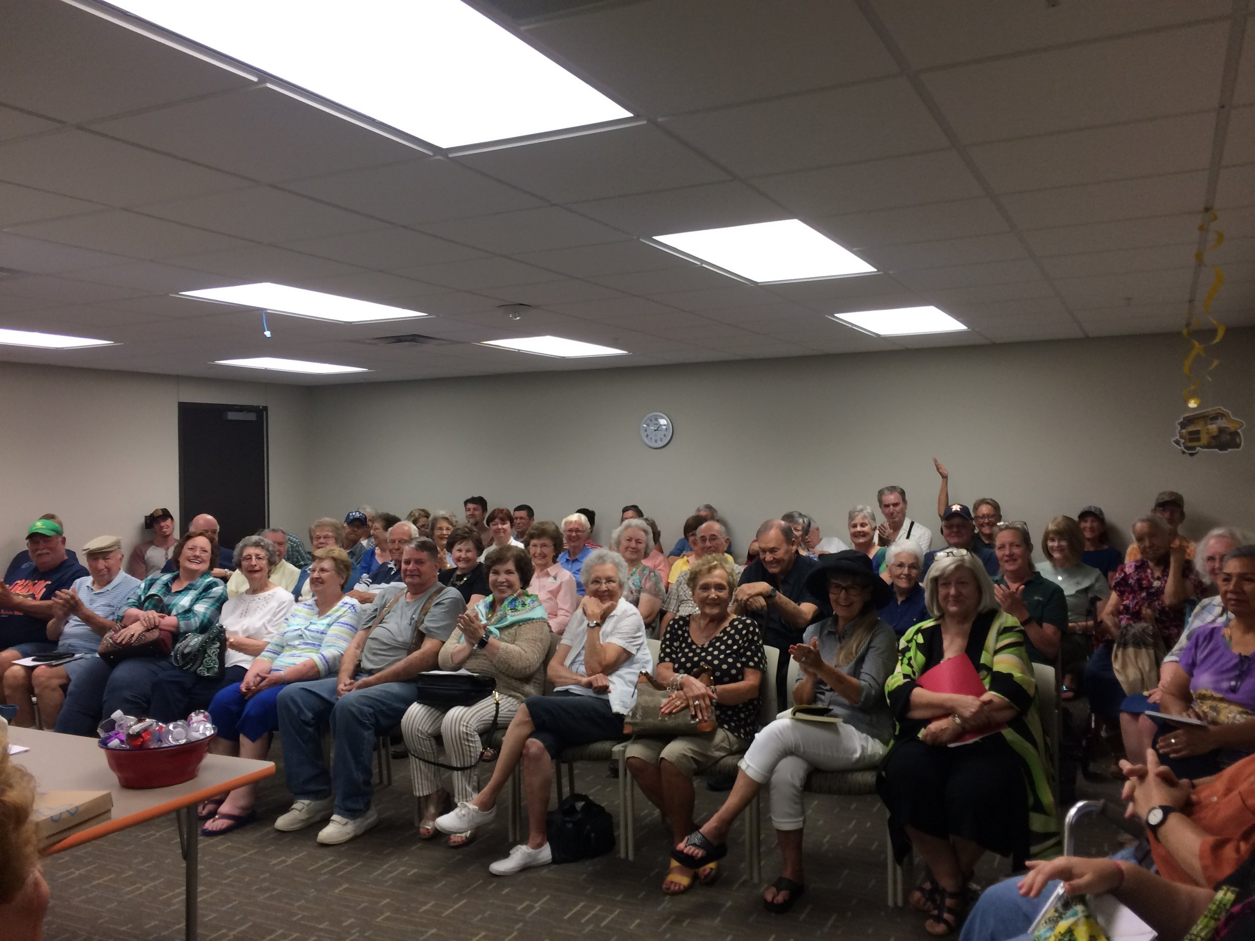 Enthusiastic audience at Livingston Public Library for my presentation on Trinity River History, summer 2017.