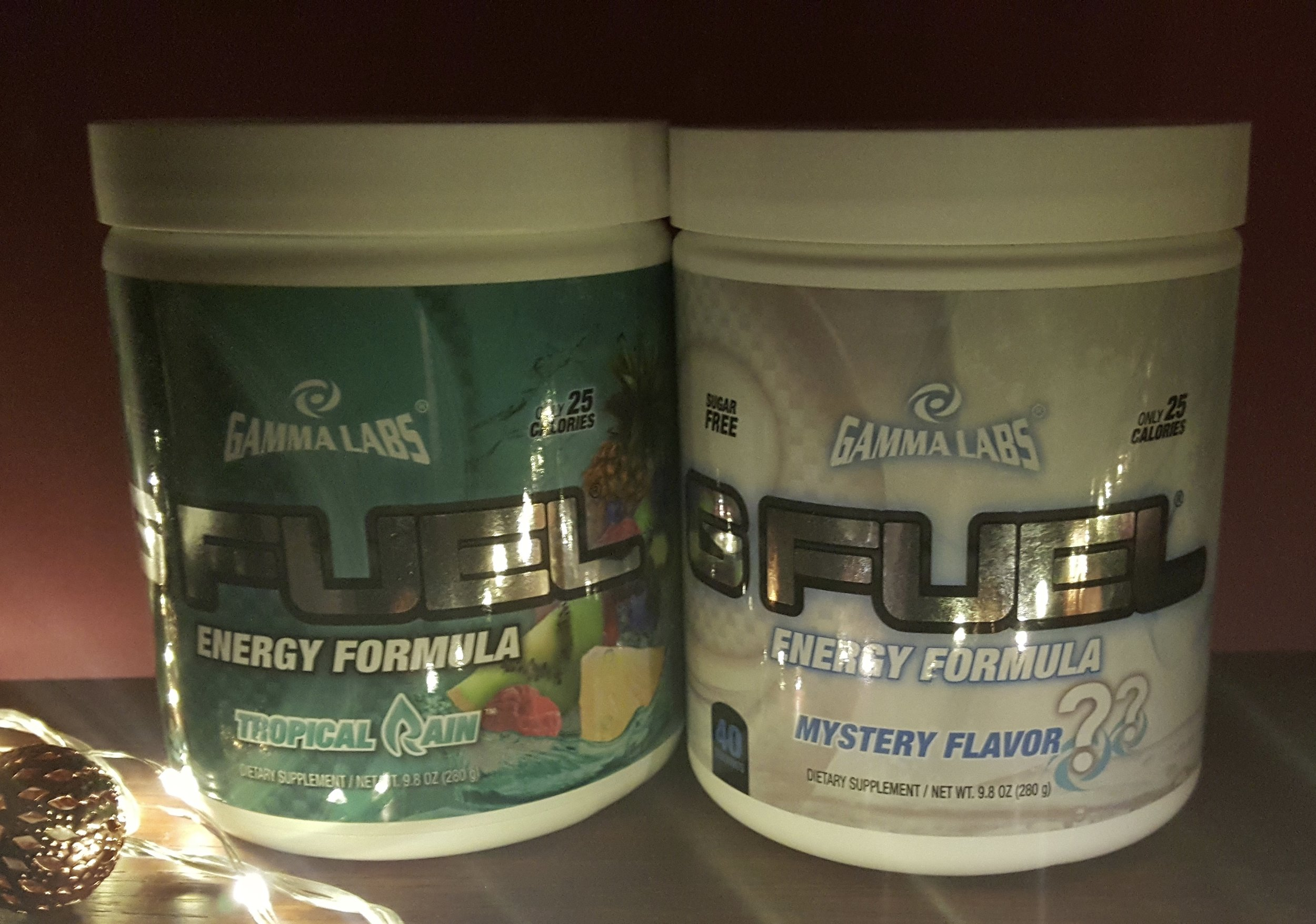 GFUEL, Tropical Rain (left) and Mystery Flavor (right)