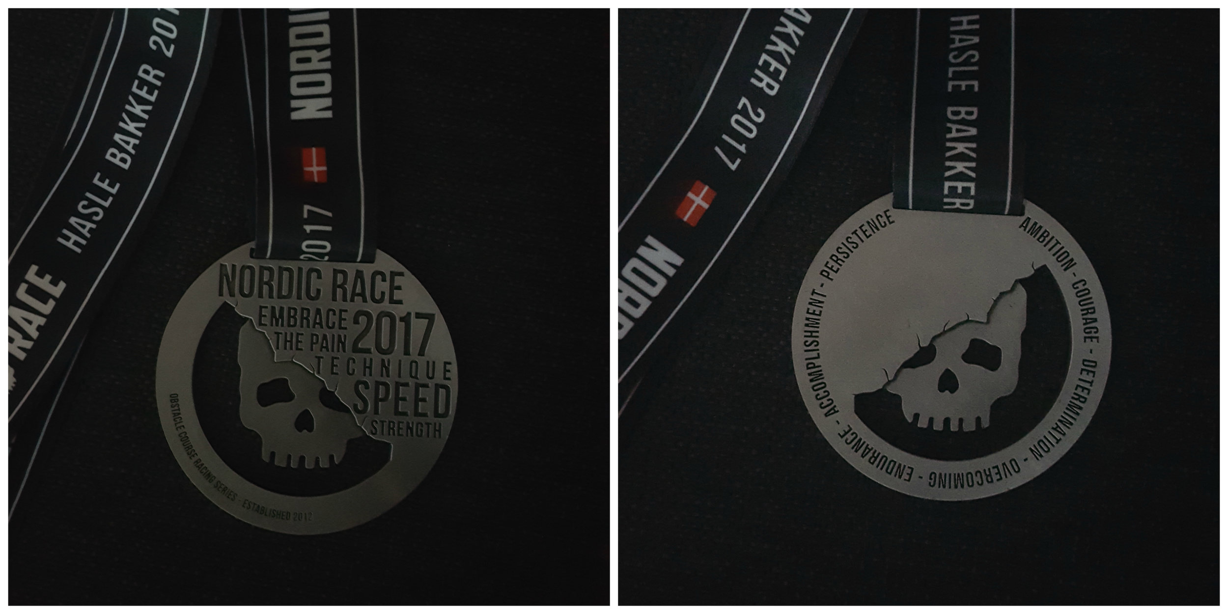 Medal for coming all the way through.