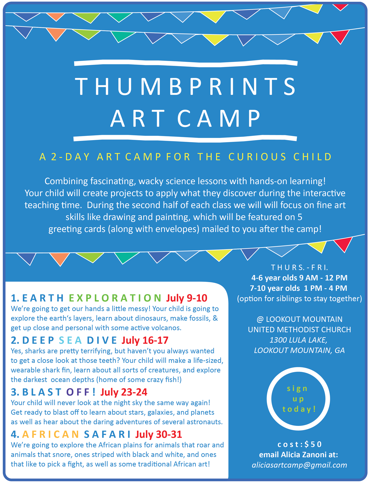Thumbprints Art Camp, July 2015. Created with Adobe Illustrator.