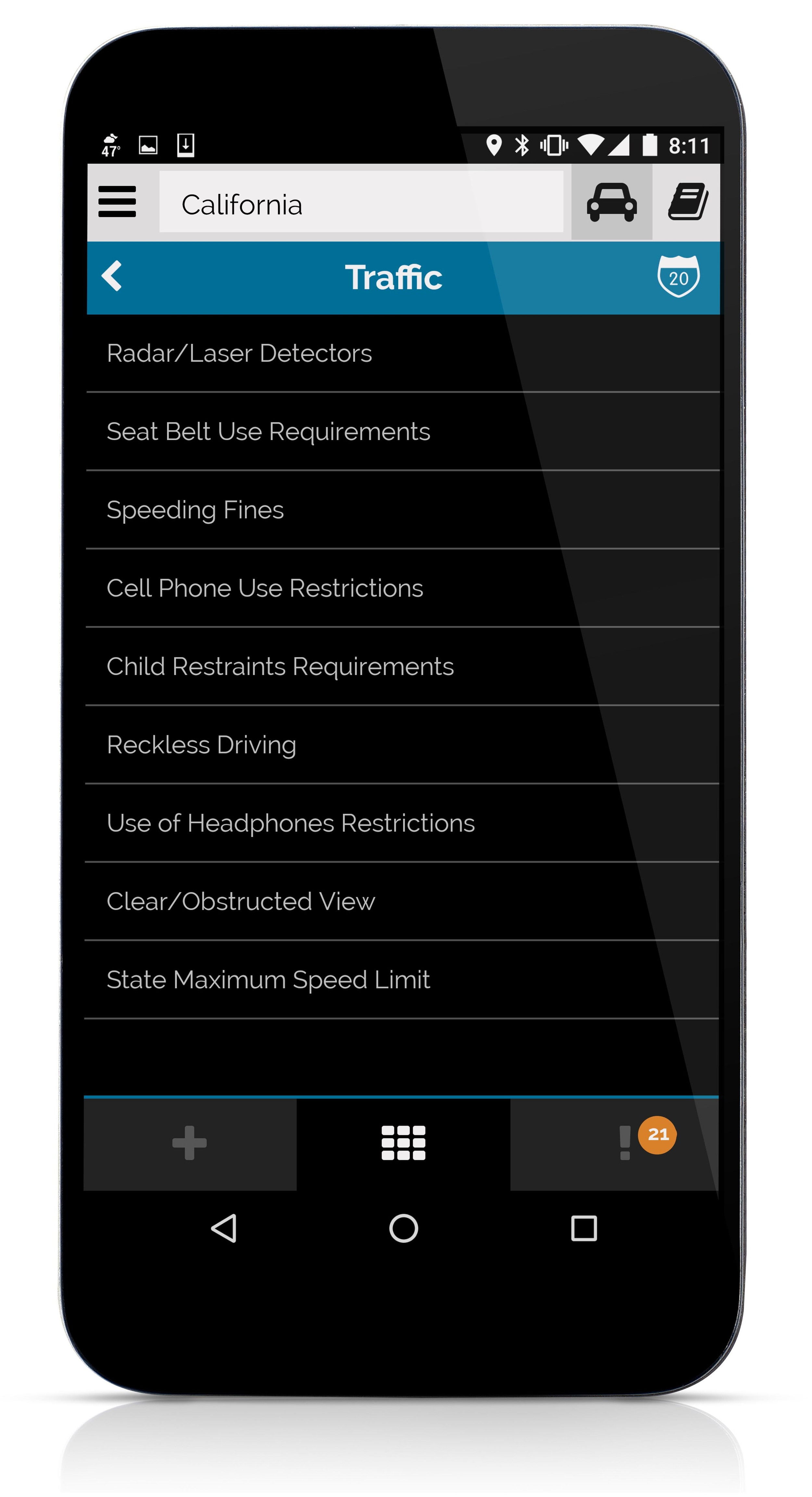 There are a lot of laws in each category, some of which you might care about more or less than the rest. Adjust each law individually for more custom tailored updates. All laws with a priority of 2 or higher are logged in the app. Level 3 will notify you when laws of that category changed. 4 and up pushes individual law changes.