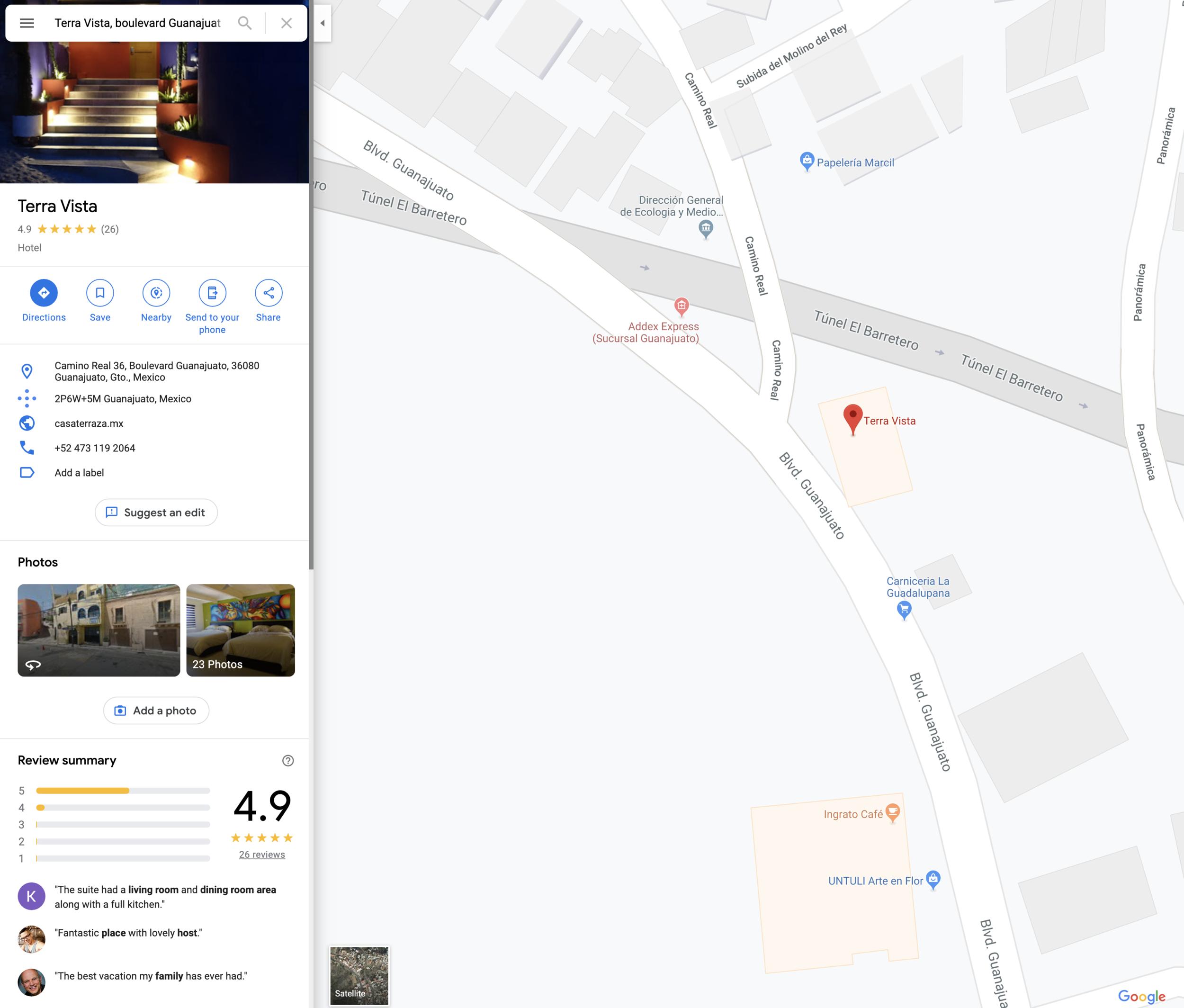 Camino Real #36, Boulevard Guanajuato, Col. Molino del Rey, Guanajuato, Gto - Click the image to open in google maps