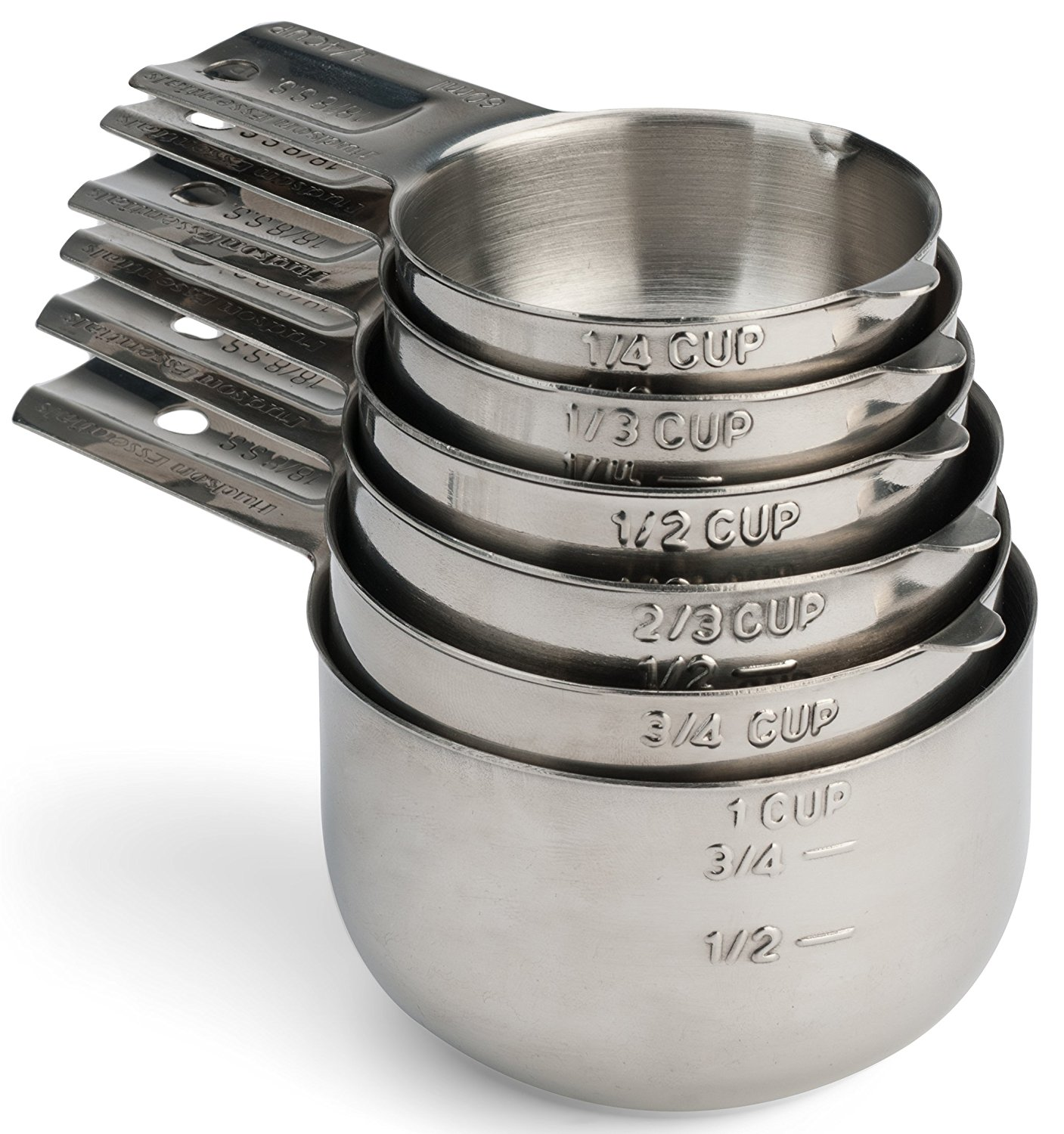 stainless steel measuring cups - bakeware - measuring cups - best baking tools - baking tools