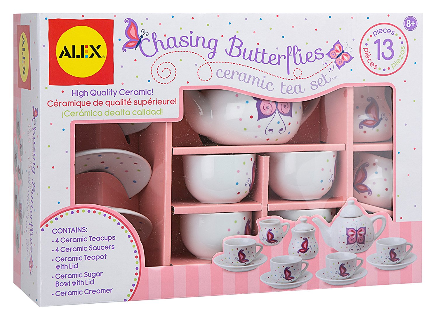 Alex Toys ceramic tea set - tea party - best toy for little girls - tea set