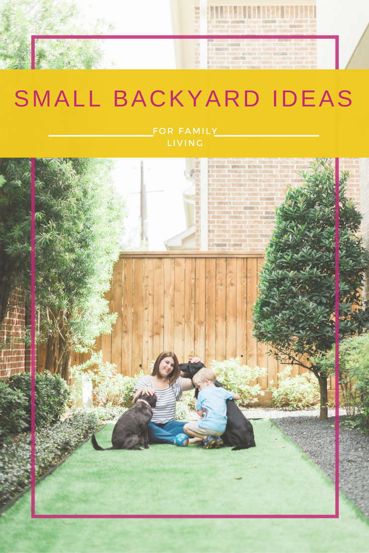 "Small Backyard Ideas for family living in the city. Making the most of our ""tiny yard."""