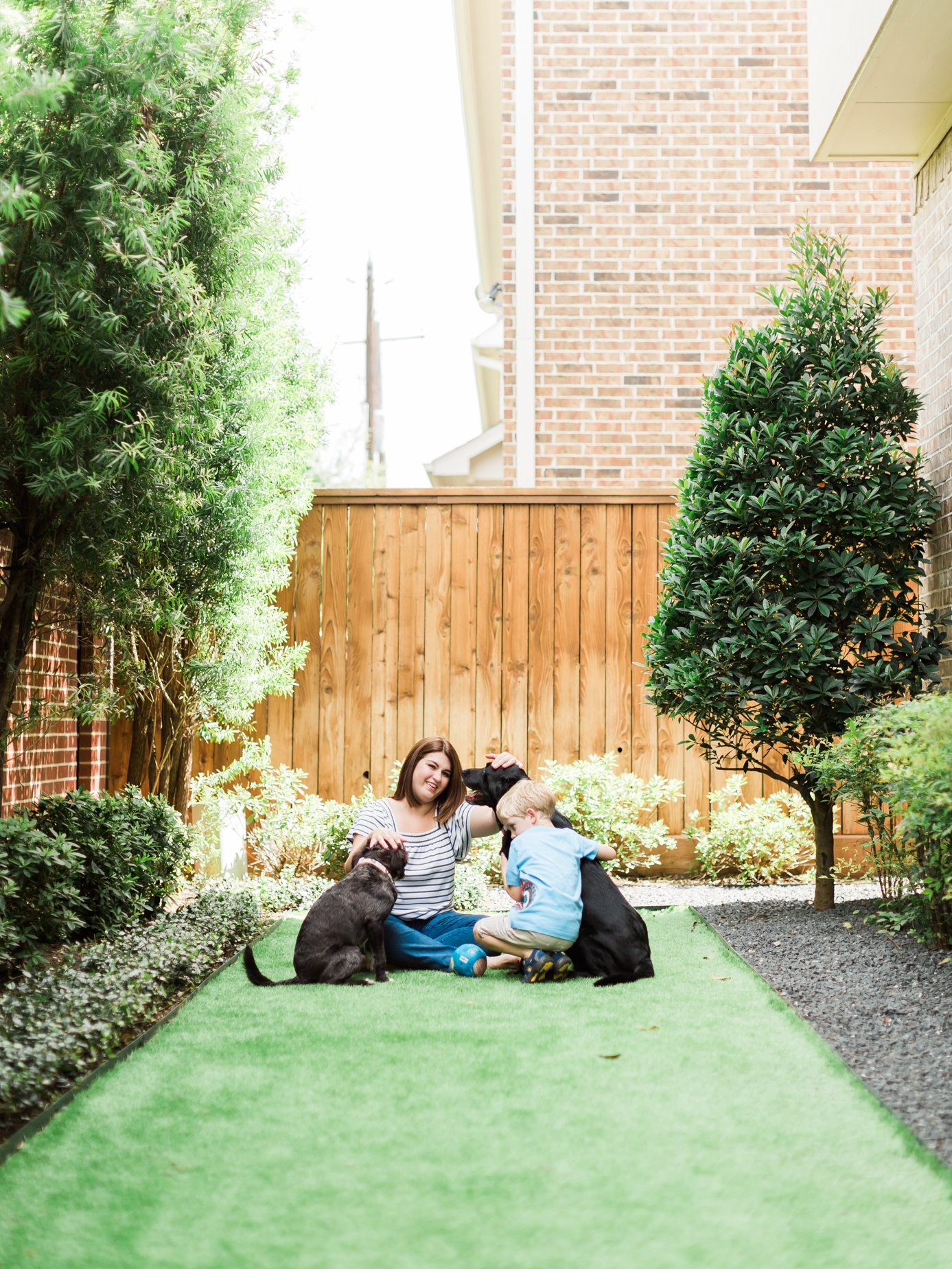 Artificial turf - safe for kids and dogs! The perfect solution for small backyards!