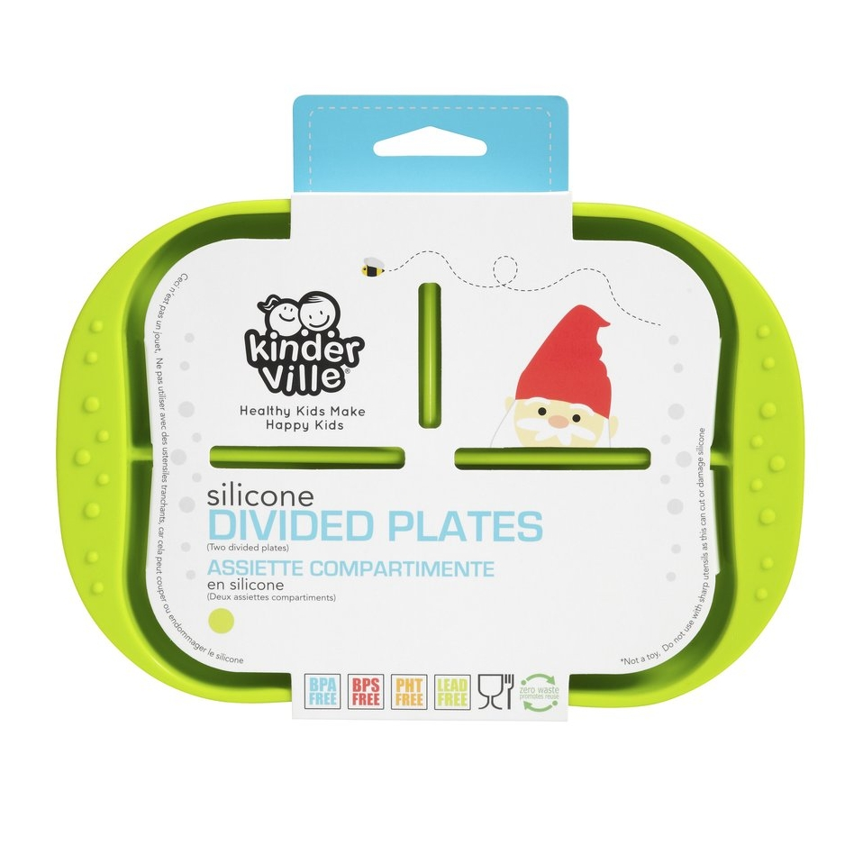 Kinderville Silicone Divided Plate - great for toddlers!