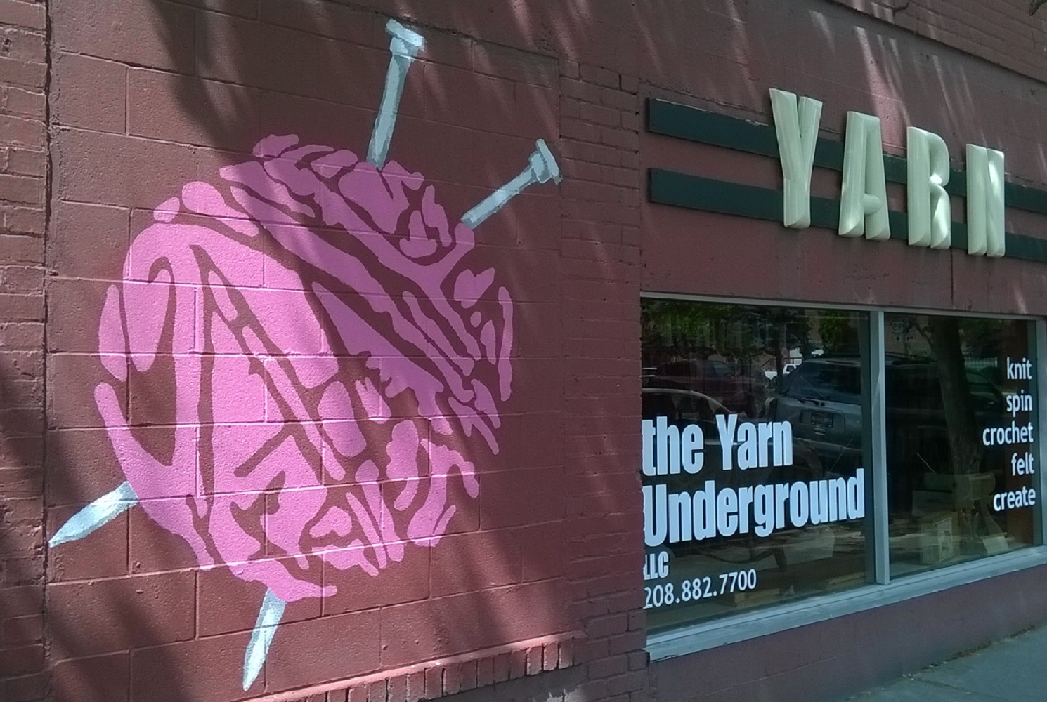 Palouse Yarn Company makes its home within The Yarn Underground, 409 S. Washington St, Moscow ID