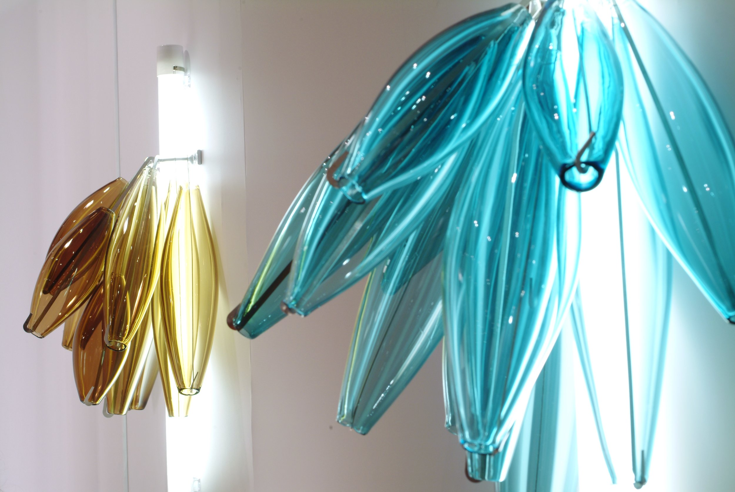 ▲'Squid' wall sconces for a private client in Miami