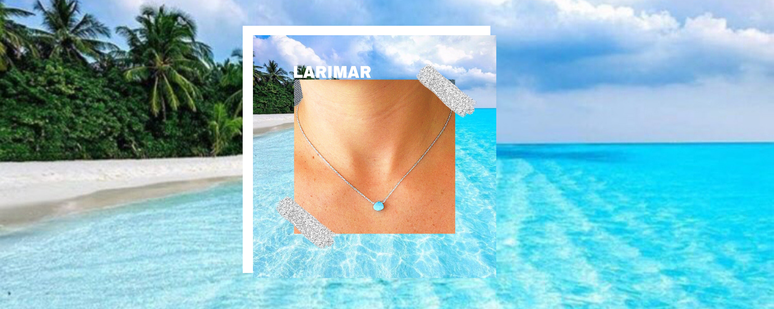 A Brand new original to Golden zen Boutique: The Larimar necklace - handcrafted from 925 sterling silver & grade a Larimar Stones sourced from the dominican republic.