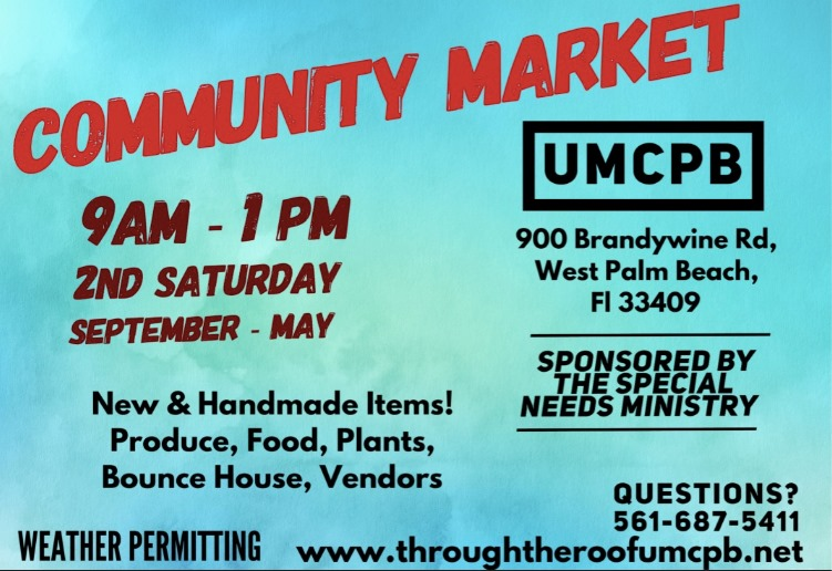Check out our NEW monthly community market! - Click the image to learn more about the reoccurring event