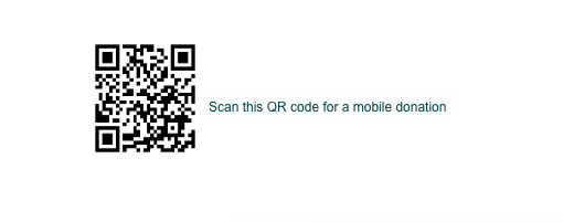Scan the QR Code for a different way to donate.