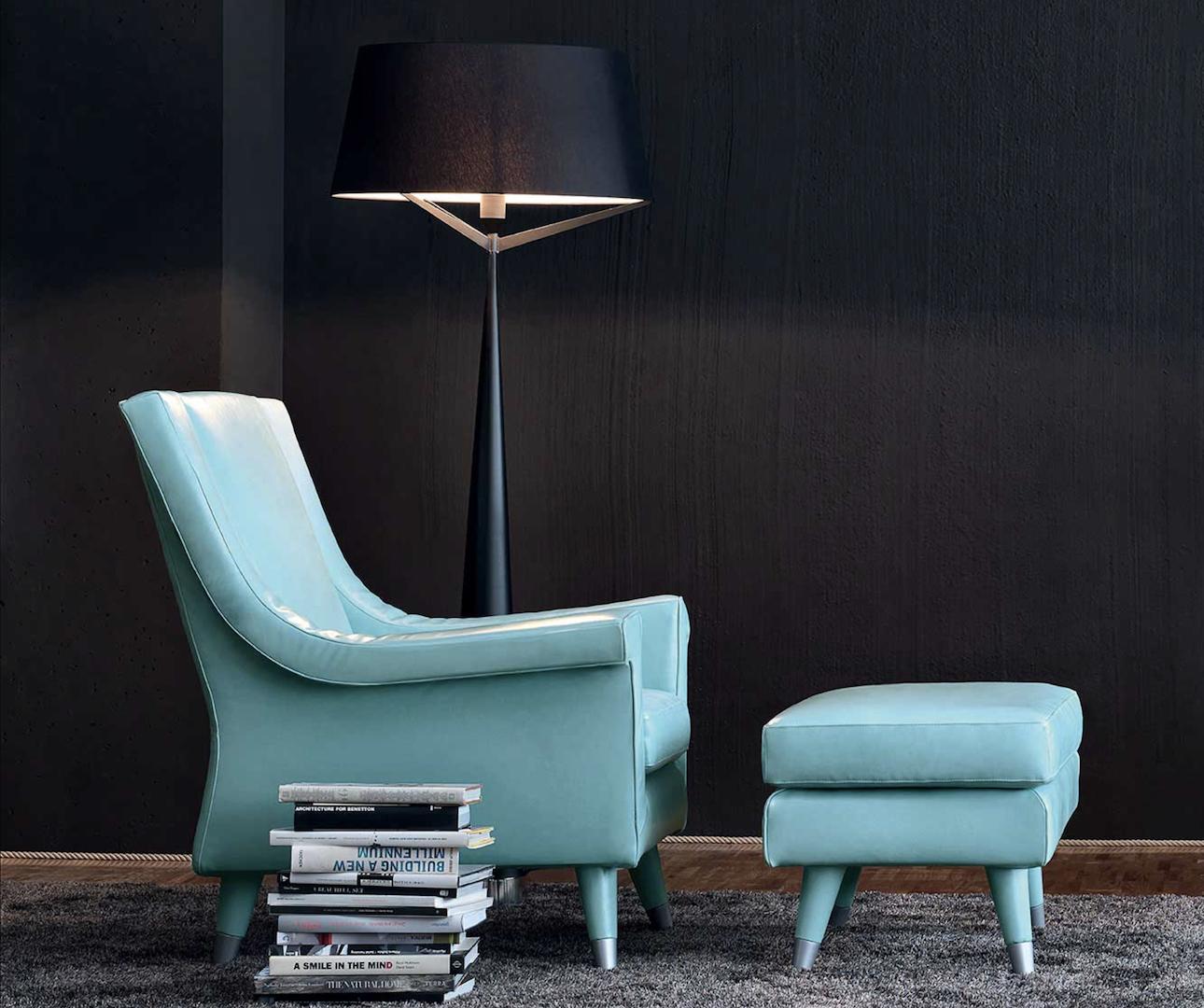 AMC 117 Designer Italian Lounge Chair