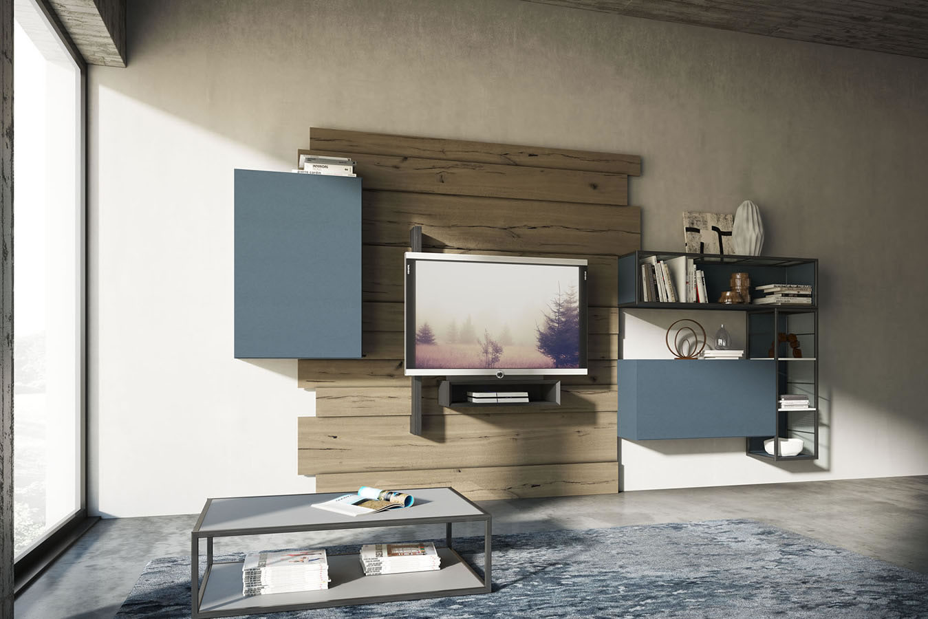 WU 104 Modern Wall Unit