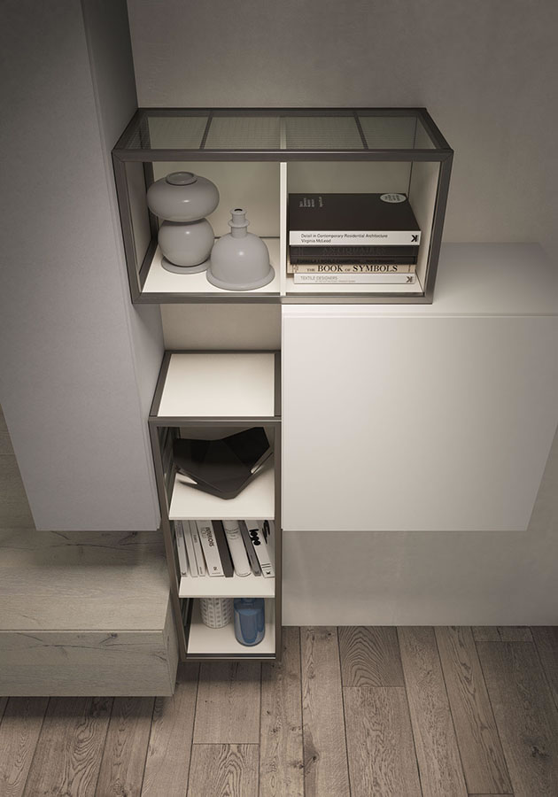 WU 106 Modern Wall Unit