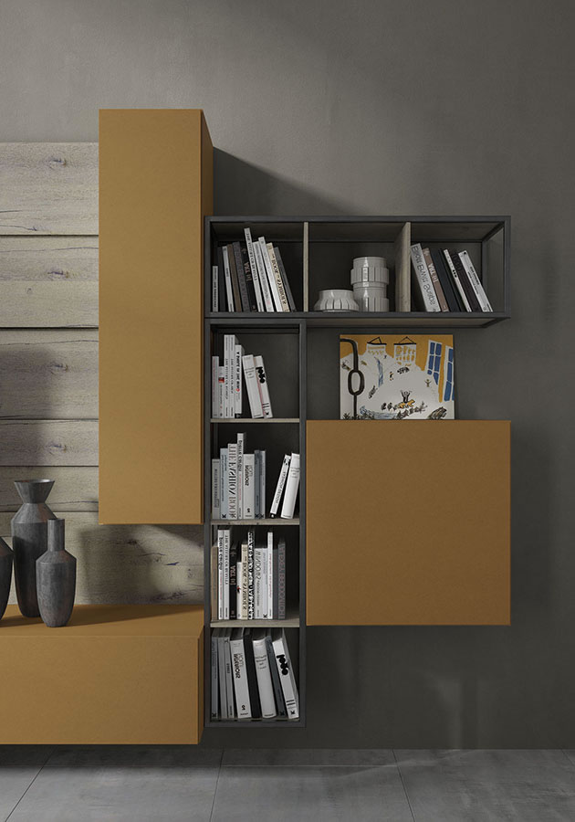 WU 107 Modern Wall Unit