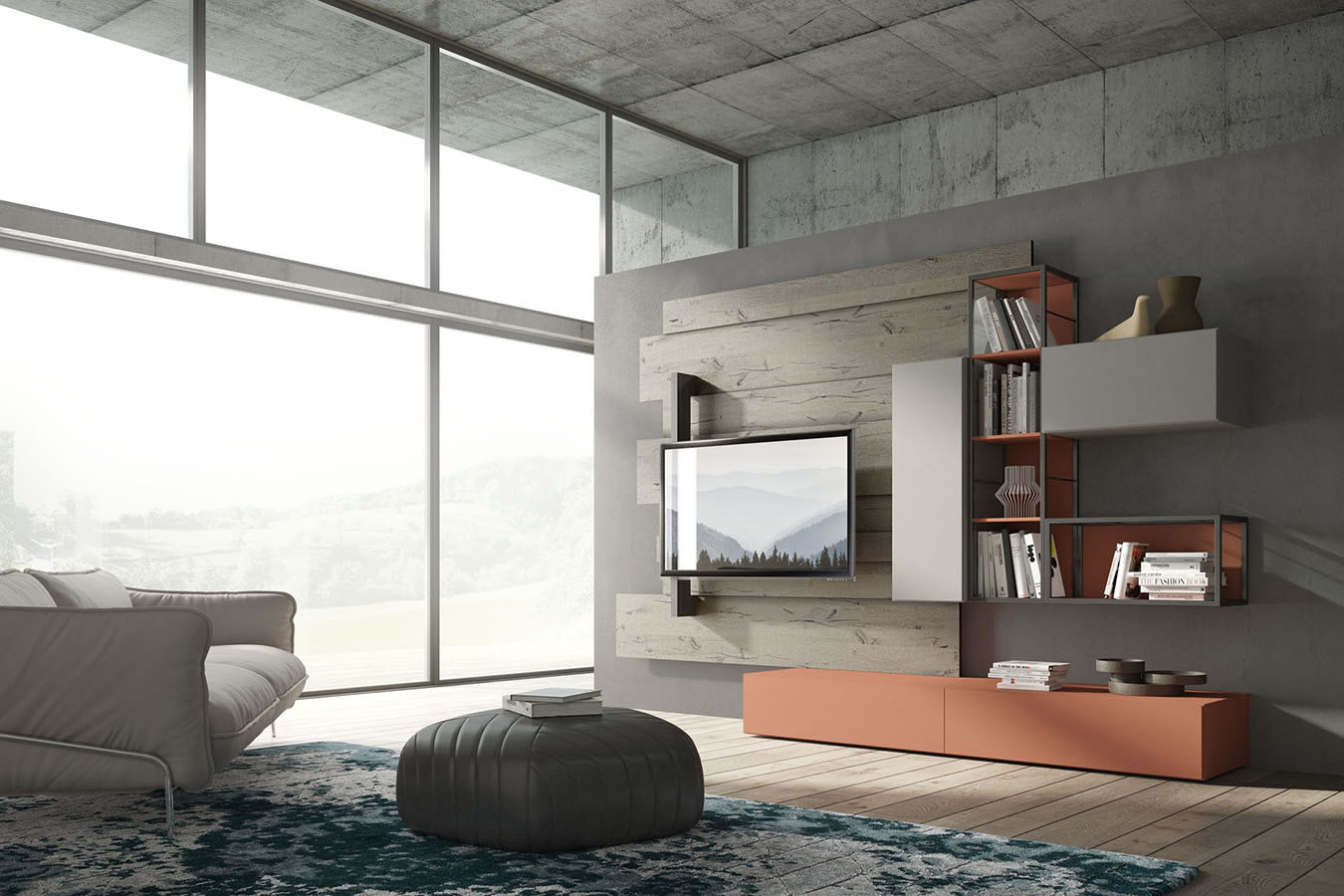 WU 109 Modern Wall Unit
