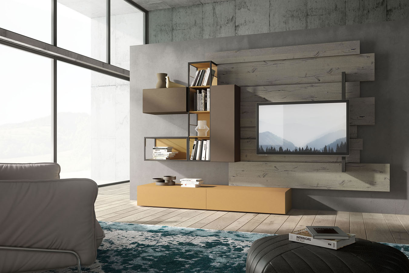 WU 110 Modern Wall Unit