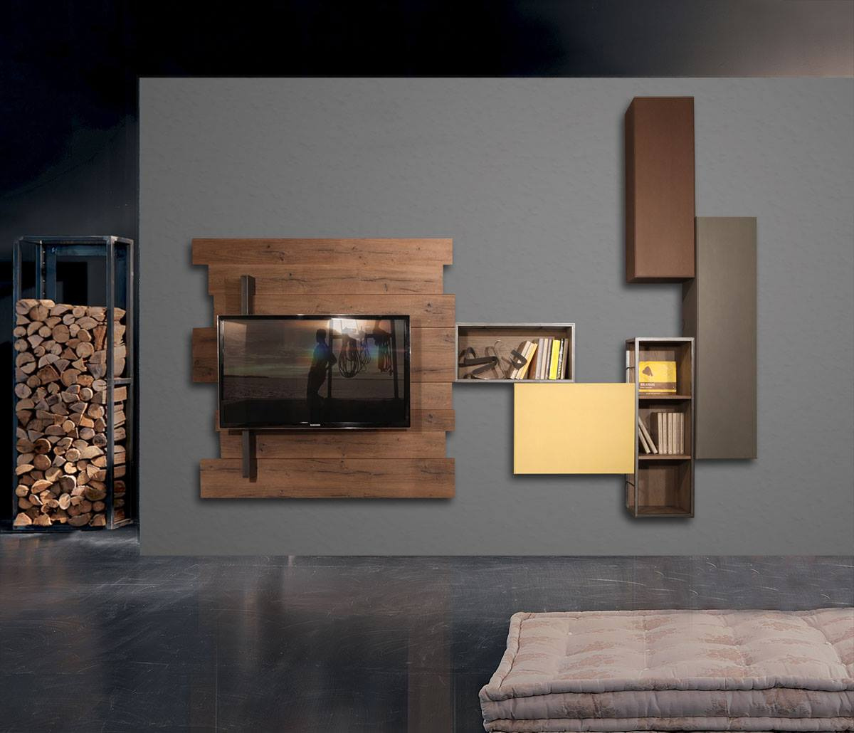 WU 112 Modern Wall Unit