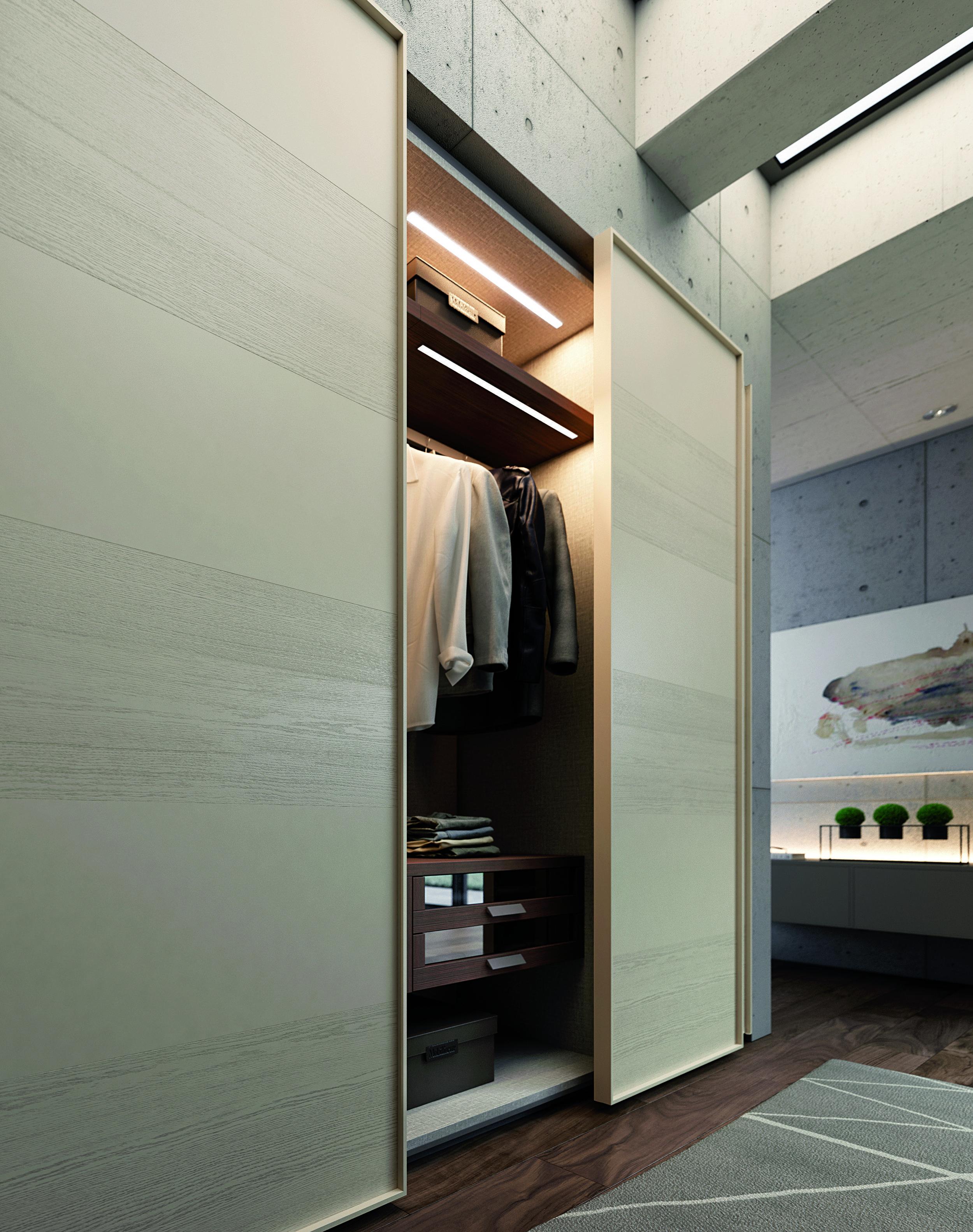 Modern Italian Wardrobe detail