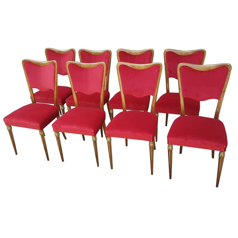Osvaldo Borsani Dining Chairs 1940s