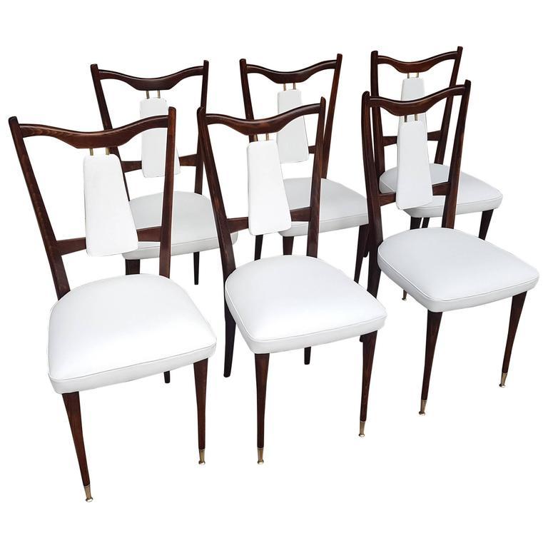 Italian Mid Century Dining Chairs 1950s