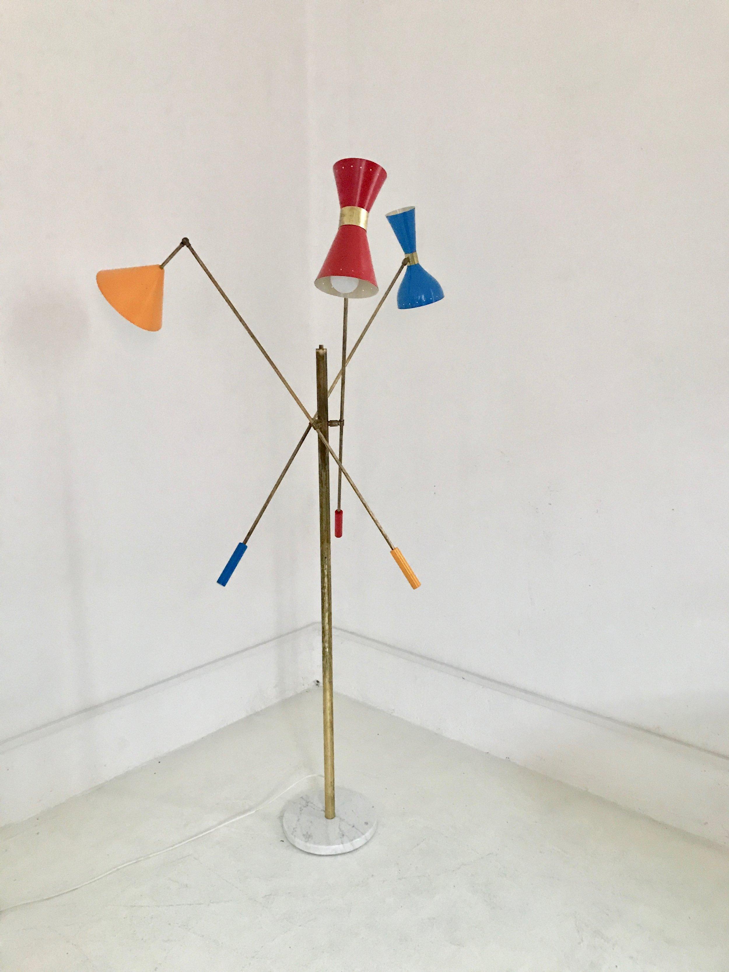 LM 06 Italian Mid-Century Triennale Style Floor Lamp